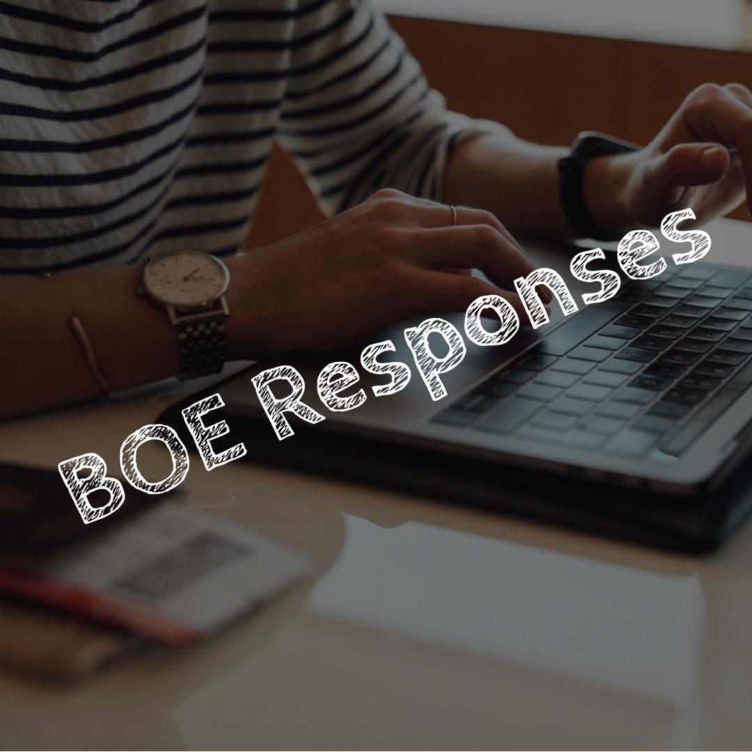 BOE Responses